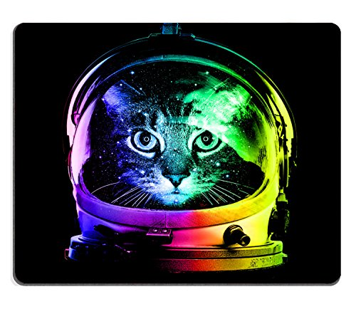 Wknoon Adorable Rainbow Astronaut Cat Thick Mouse Pad, 9.45 X 7.87 Inch (240mmX200mmX3mm ) (Adorable Mouse)
