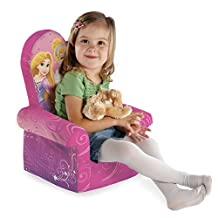 Marshmallow Furniture, Children's Upholstered High Back Chair, Disney's Princess, by Spin Master
