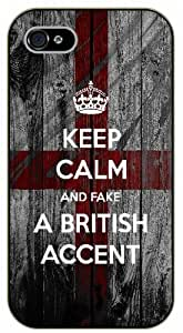 "iPhone 6 (4.7"") Keep calm and fake a british accent - black plastic case / Keep calm By SHURELOCK TM"