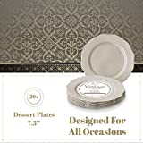 DISPOSABLE DINNERWARE SET, 20 Dessert Plates
