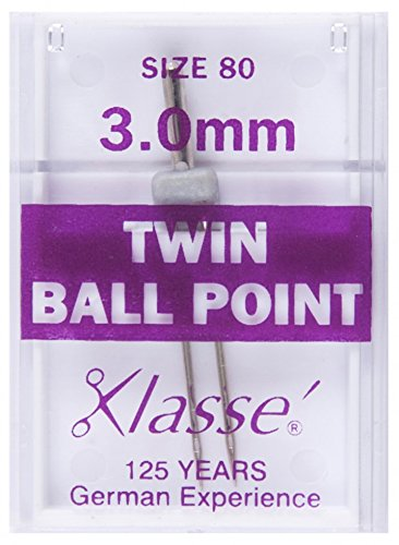 Klasse Machine Sewing Needles Twin Ballpoint 80/3mm