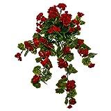Windowbox 34'' Outdoor Rated Geranium Hanging Vine - Red