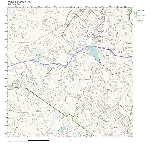 ZIP Code Wall Map of West Paterson, NJ ZIP Code Map Not Laminated]()