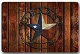DaringOne Rustic Western Country,Western Texas Star Non-Slip Machine Washable Bathroom Kitchen Decor Rug Mat Welcome Doormat 23.6x15.7inch