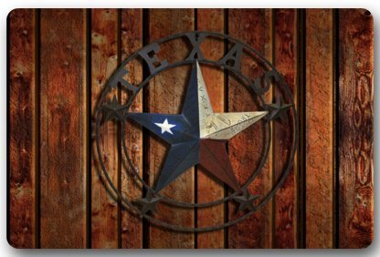 (DaringOne Rustic Western Country,Western Texas Star Non-Slip Machine Washable Bathroom Kitchen Decor Rug Mat Welcome Doormat 23.6x15.7inch)