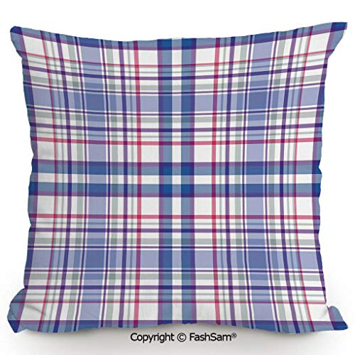 Decorative Throw Pillow Cover Country Inspired Old Fashioned Pattern Picnic Theme Light Colors for Pillow Cover for Living Room(14