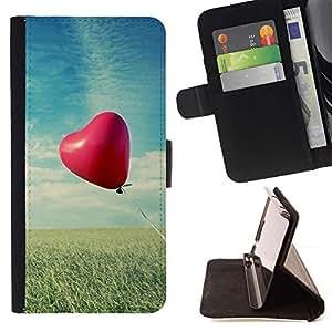 For LG G2 D800 Case , Amor Globo Amor- la tarjeta de Crédito Slots PU Funda de cuero Monedero caso cubierta de piel