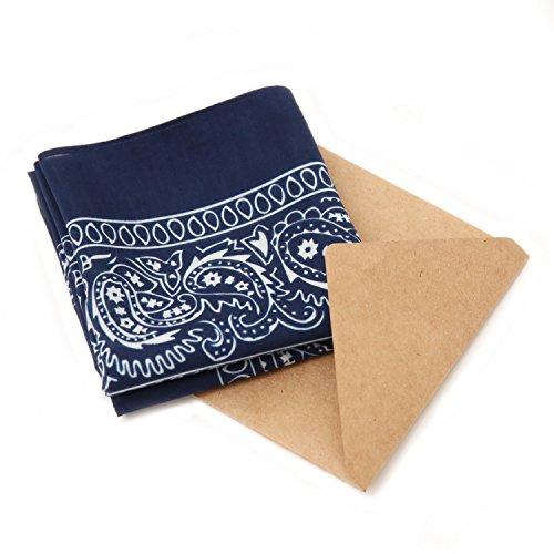 Unlabeled Unisex Cotton/Silk Paisley Bandana (Blue)