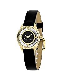 Marc Jacobs Tether Black Dial Ladies Leather Watch MJ1381