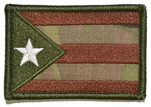 Puerto Rico State Flag - 2x3 Morale Patch - Multicam