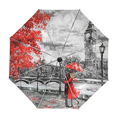 ALAZA Big Ben de Londres Amantes Pintura al Óleo del Viaje Paraguas de Apertura automática Cerrar UV Protección a Prueba de Viento: Amazon.es: Deportes y ...