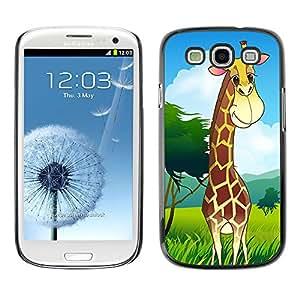- Giraffe Design - - Monedero pared Design Premium cuero del tir¨®n magn¨¦tico delgado del caso de la cubierta pata de ca FOR Samsung Galaxy S3 I9300 I9308 I737 Funny House