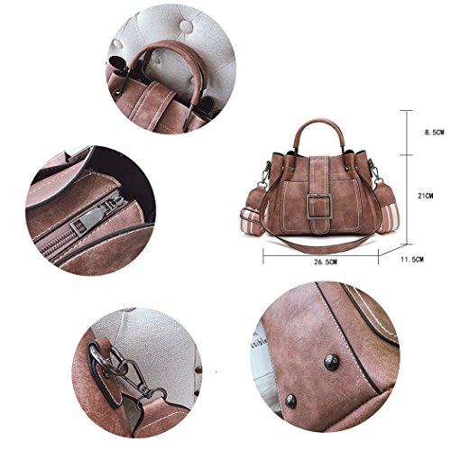 Work Shoulder Capacity Brown Bags Women With Office Bag Big 4P6wvntAxq