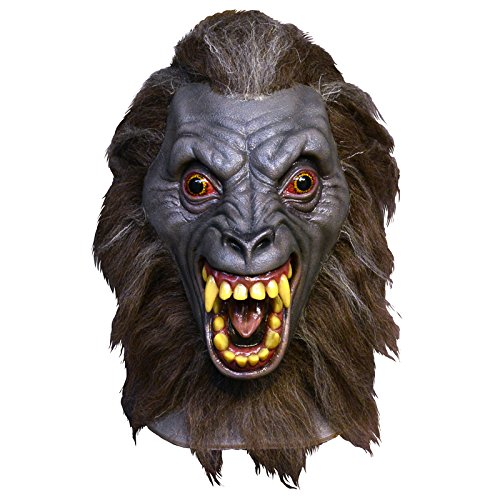 Trick or Treat Studios Men's An American Werewolf In London-Werewolf Demon Mask, Multi, One Size (Halloween Costumes In London)