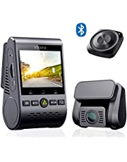 VIOFO A129 Duo Dual Dash Cam Full HD 1080P WiFi Front and Rear Dashboard Camera, GPS and Wireless Bluetooth Remote Control Included, Parking Mode, Motion Detection, G-sensor, Loop Recording