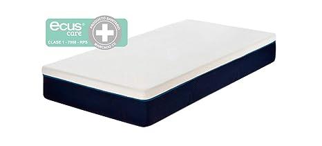 Ecus Care ECAR190080 - Colchón juvenil, color blanco y azul