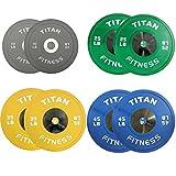 230 LB Set of Titan Color Elite Olympic Bumper Plates