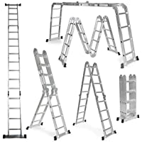 Escalera De Aluminio Plegable 575cm, Multifuncional 6 En