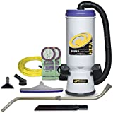 ProTeam Backpack Vacuums, Super CoachVac Commercial Backpack Vacuum Cleaner HEPA Media Filtration Telescoping Wand Tool Kit, 10 Quart, Corded