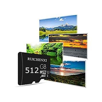 RUICHENXI Tarjeta Micro SD 512GB Tarjeta de Memoria Memory Card para Teléfono, Tableta y PC