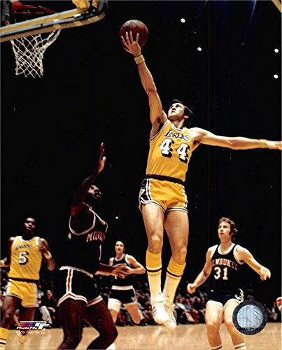 Jerry West unsigned 8x10 photo (Los Angeles Lakers) Image #1