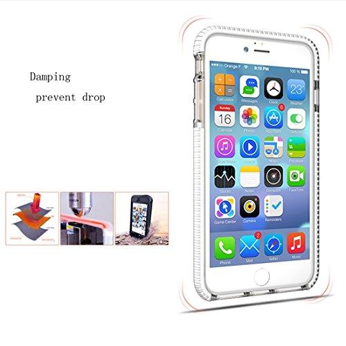 Protege tu iPhone, Para la caja protectora trasera de la contraportada de la textura TPU Dropproof del diamante del iPhone 6 & 6s Para el teléfono celular de Iphone. ( Color : Gris ) Azul