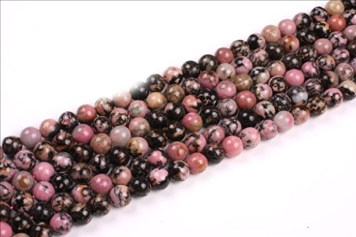 8mm Round Rhodonite Gemstone Beads Strand 15 Inch,Jewelry Making Beads
