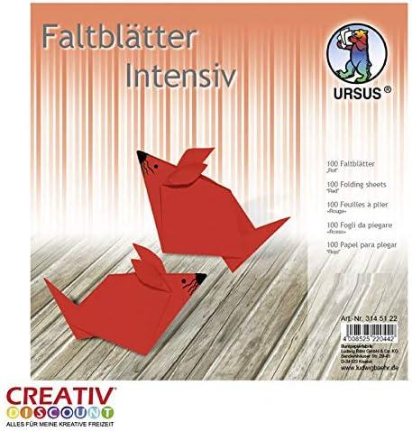 CREATIV DISCOUNT® NEU Faltblätter intensiv 100 Blatt, 15x15cm, rot