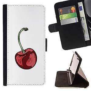 Momo Phone Case / Flip Funda de Cuero Case Cover - Minimaliste Rouge - Samsung Galaxy J1 J100