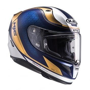 Casco de moto HJC RPHA 11 Riomont MC9SF, color azul, tamaño S