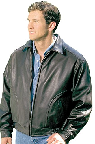 REED Mens All American Bomber Leather Jacket Union Made in USA