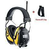 PROTEAR Safety Ear Headphones With Radio,Digital AM/FM Hearing Protection Headphones with MP3 Compatible - Adjustable NRR 25dB Noise Reduction Safety Ear Muffs for Working Lawn Mowing Construction