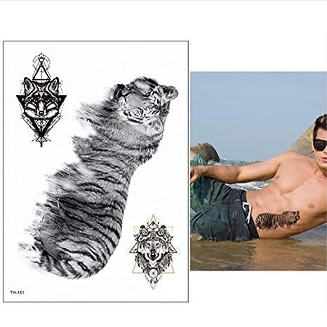 yyyDL Tatuajes temporales a prueba de agua hombres tatuaje bosque ...