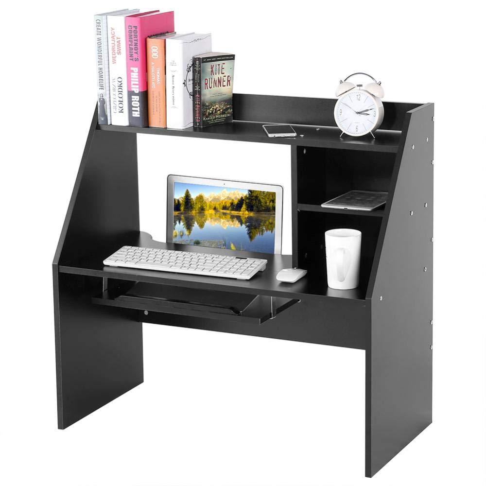 GOTOTOP Tavolino PC Tavolo Notebook, Tavolo da parete, Scrivania, Librerie, Mensola a muro Desktop Organizer Cassa di stoccaggio, 83 x 40 x 80cm (bianco)
