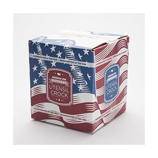 American Mug Pottery Ceramic Utensil Crock Utensil Holder, Made in USA, White 5