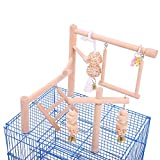 QBLEEV Bird Cage Play Stand Toy Set-Birdcage Wood