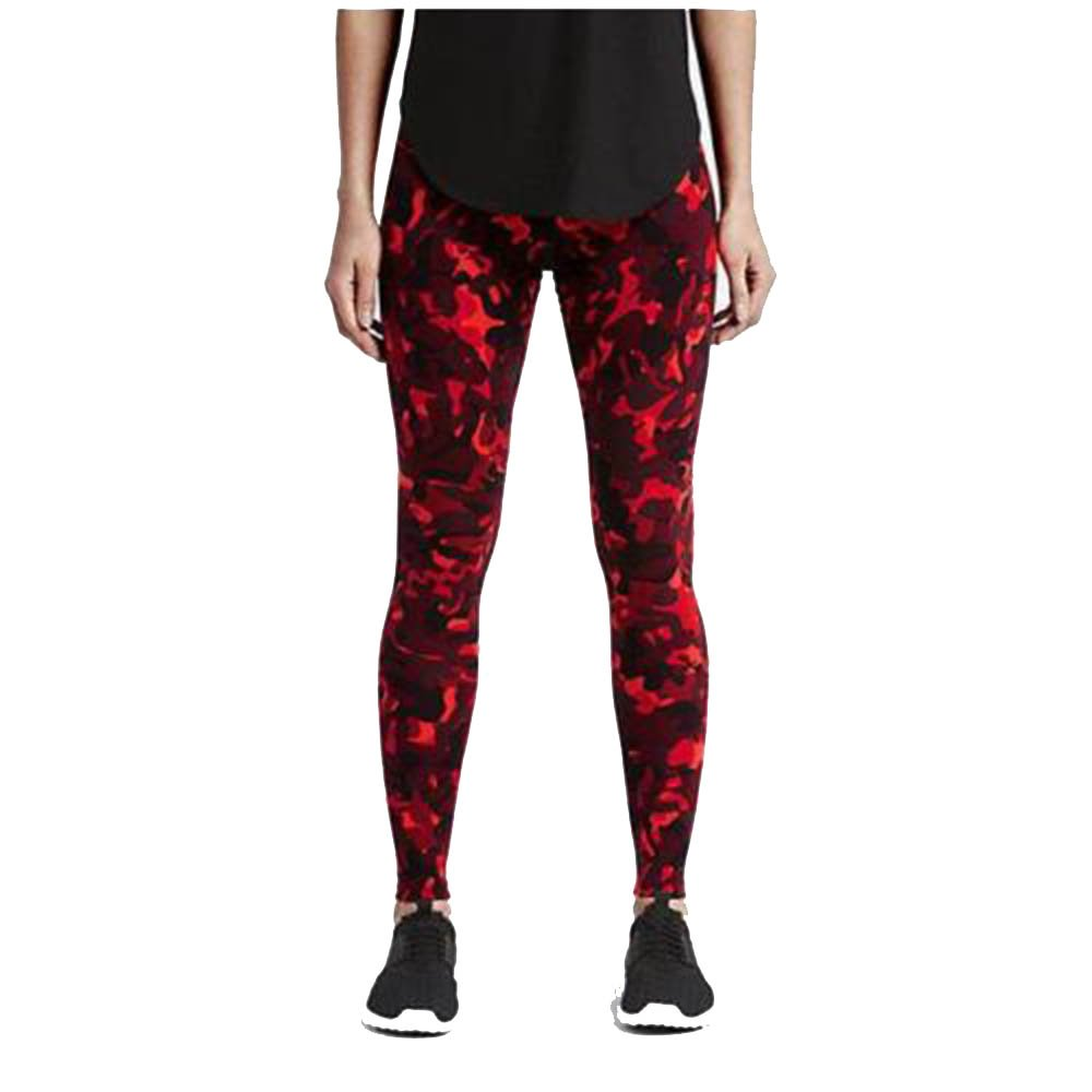 Nike Women's Running Training Compression Tights Red Camo X-Small 839619 696