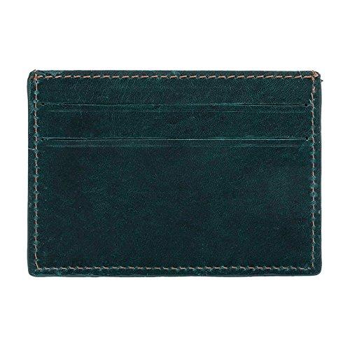 De Velez Credit 1021730 Billetera Mens Card Hombre Genuine Aquamarine Holder Bifold Cuero Leather 868Iw