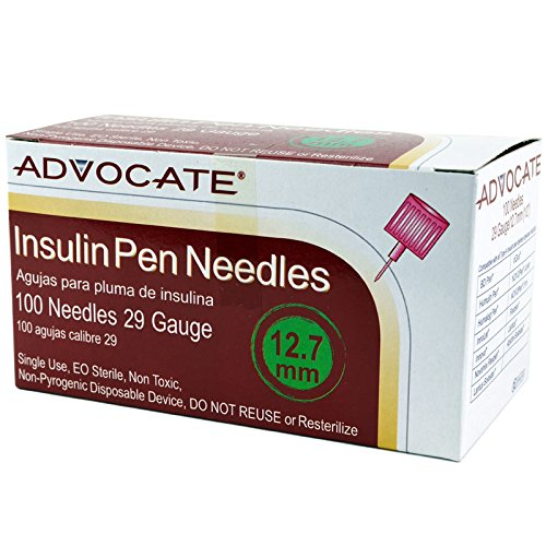 Advocate Pen Needle 29G x 12.7mm 1/2'' 100/bx 12bx/cs, Case of 12