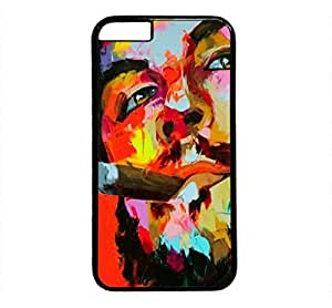 iPhone 4 4S Case, iCustomonline Vibrant and Explosive Colorful Paintings Designs Plastic Case for iPhone 4 4S Black by ruishername