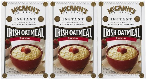 McCann's Irish Oatmeal, Instant Oatmeal, Regular, 12 Packets, 28 g Each (3 pack)