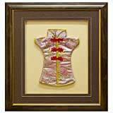 China Furniture Online Wall Shadow Box, Qing Qipao Pink