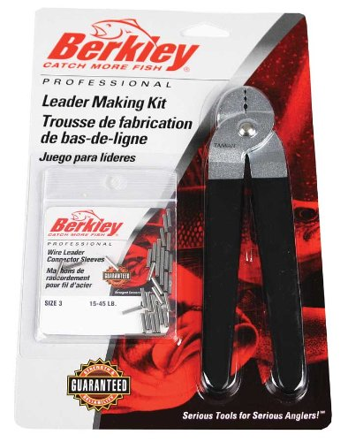 Berkley Leader Marking Kit with Crimpers and Wire Leader Sleeves, Size-3, - Leader Sleeves