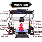 3D Printer, Trovole A8-W5 Pro DIY LCD Screen Desktop 3D Printer Kit with 1.75mm ABS/PLA Printer Filament(Build Size 220×220×240mm)