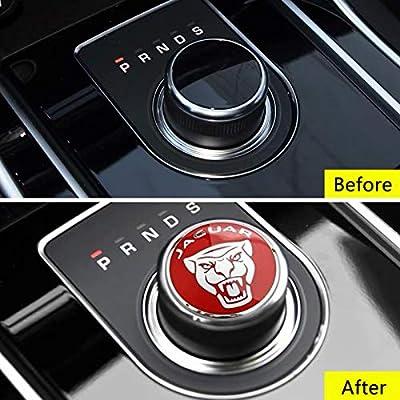 MAXDOOL Panel Frame Cover Trim Accessories Gear Shift Knob Cover Decoration Trim Sticker for Jaguar XF XE XJ F-Pace (Red): Automotive