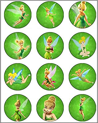 Tinkerbell Edible Cupcake Toppers Birthday 12