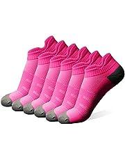diwollsam Athletic Running Socks, Womens Girls Seamless Dry Fit Breathable Low Cut Tab Support Hiking Walking Sports Casual Socks
