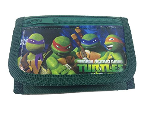Fantastic Deal! Ninja Turtles Green Trifold Wallet
