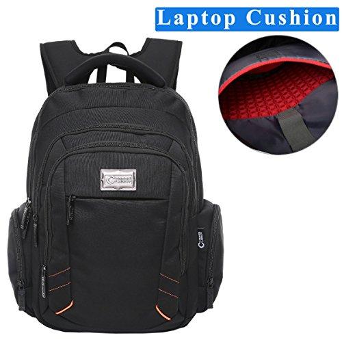 Price comparison product image Crosslandy Laptop Backpack for Men Women Work Backpacks Fit 15.6 Inch Laptop Travel College Bookbag Water Resistant Black (Black02)