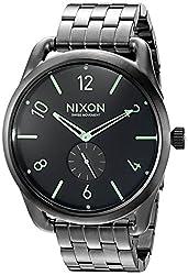 Nixon Men's A9511418 C45 SS Analog Display Swiss Quartz Grey Watch